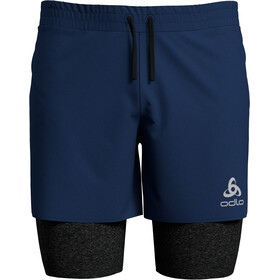 Odlo Millennium Linencool PRO Short 2 en 1 Homme, estate blue/black